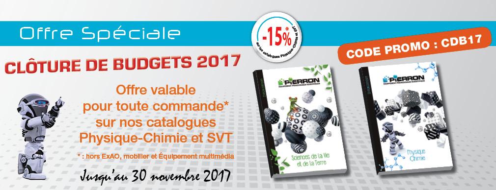 Offre spéciale clôture de budgets 2017