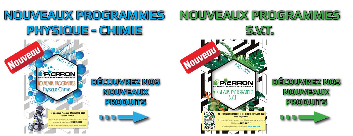 Nouveaux programmes Physique-Chimie et SVT