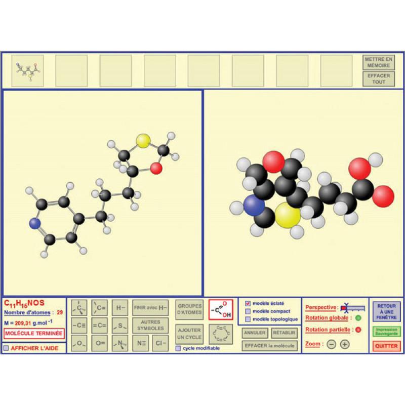 Logiciel mol cules 3d chimie logiciels m diath que for Logiciel de construction 3d