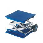 Supports élévateur avec plateau en aluminium 200 x 200 mm