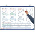 Tableau des fractions et quadrillage 2 x 2