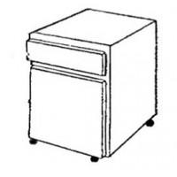 Meuble 1 porte ouverture à gauche et 1 tiroir