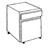 Meuble 1 porte ouverture à droite et 1 tiroir