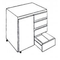 Meuble 1 porte ouverture à gauche et 4 tiroirs