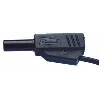 Cordons de sécurité à reprise arrière 50 cm noir qualité supérieur type Radiall