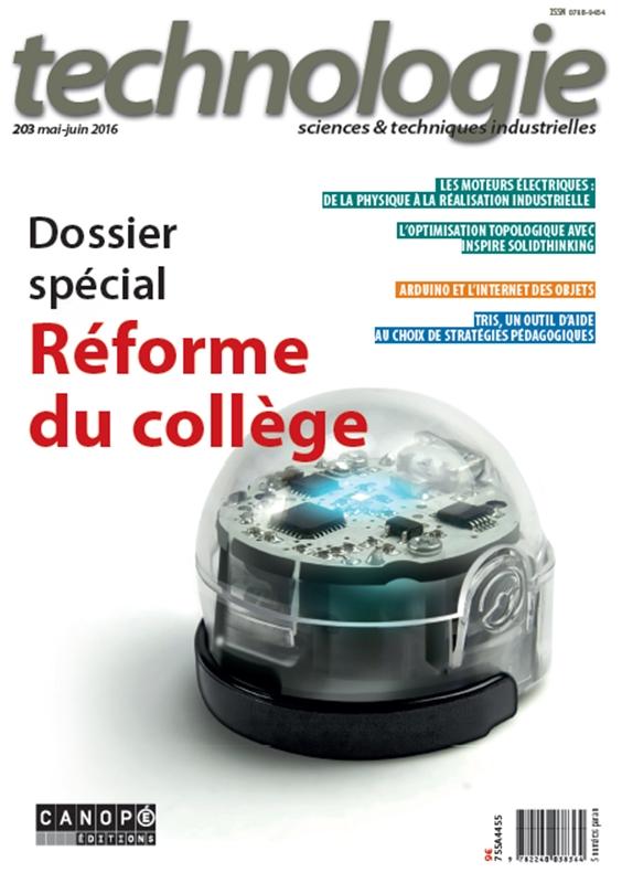 Technologie - Dossier spécial. Réforme du collège